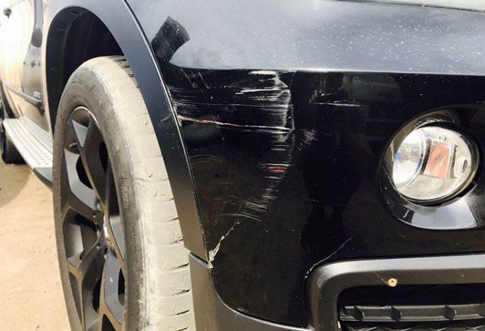 Удаление царапин на кузове